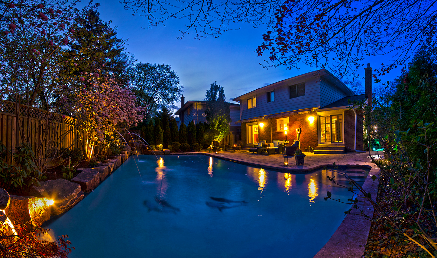 Night Photography of House for Sale in Mississauga