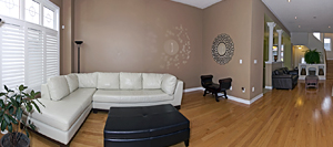 Wide angle photography and Virtual tour of townhomes for sale in Mississauga