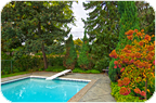 Virtual Tour of Backyard Pool Area Toronto